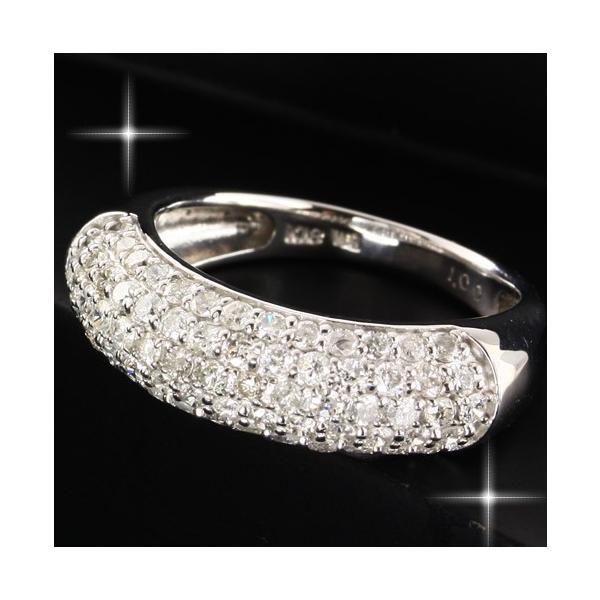 送料無料 ダイヤモンド1.0ct×K18WG ホワイトゴールド パヴェリング・指輪 天然ダイヤモンド レディース|virgindiamond|02
