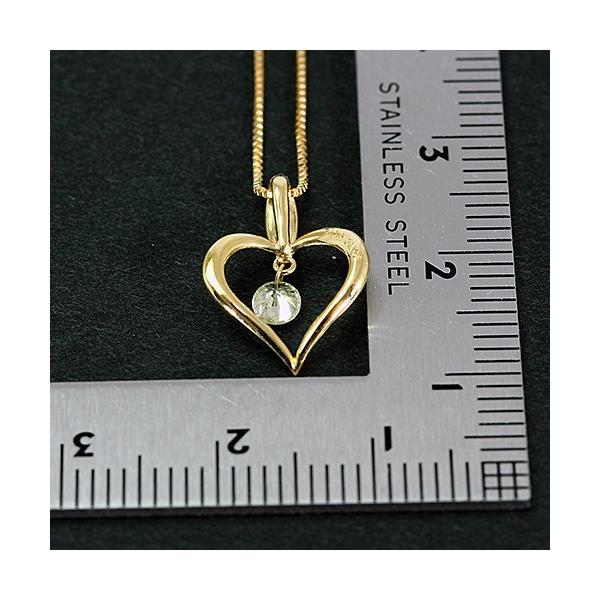送料無料 New Version ダイヤモンドが揺れる   オープンハート1粒 天然ダイヤモンド約0.13ct+計0.02ct × K18WG イエローゴールドペンダント ネックレス virgindiamond 04
