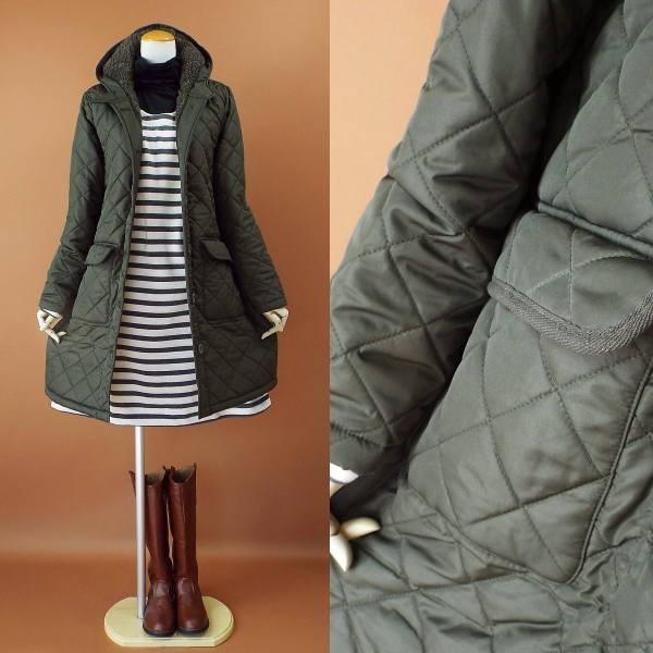 コート 冬 キルティング 中綿 ロングコート 130k visage-souriant1208 02