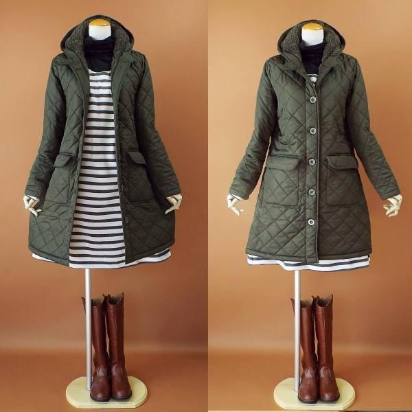 コート 冬 キルティング 中綿 ロングコート 130k visage-souriant1208 03