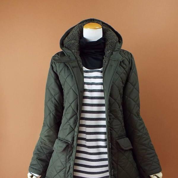 コート 冬 キルティング 中綿 ロングコート 130k visage-souriant1208 07