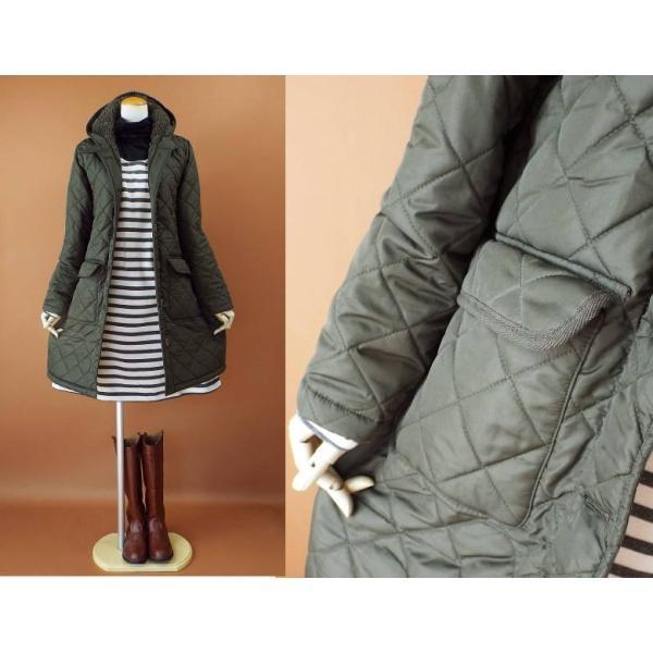 コート 冬 キルティング 中綿 ロングコート 130k visage-souriant1208 08
