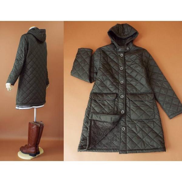 コート 冬 キルティング 中綿 ロングコート 130k visage-souriant1208 10