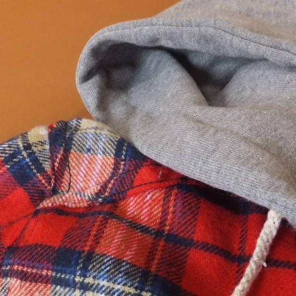 チェック柄 パーカー スタイル シャツ ワンピース 1631r|visage-souriant1208|05