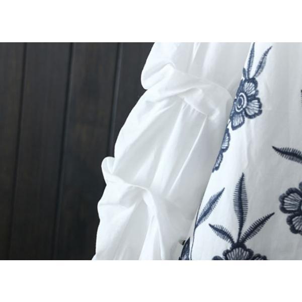 ワンピース レディース チュニック 花柄 レース 刺繍 40代 50代 s1242|visage-souriant1208|07