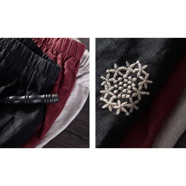ボトム スカート ガウチョ レース カットワーク 刺繍 Aライン レディース きれいめ 40代 50代  s1245|visage-souriant1208|16