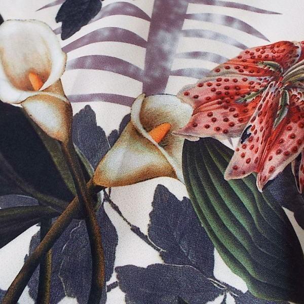 ガウチョパンツ レディース  花柄 きれいめ 40代 50代  s2087|visage-souriant1208|05