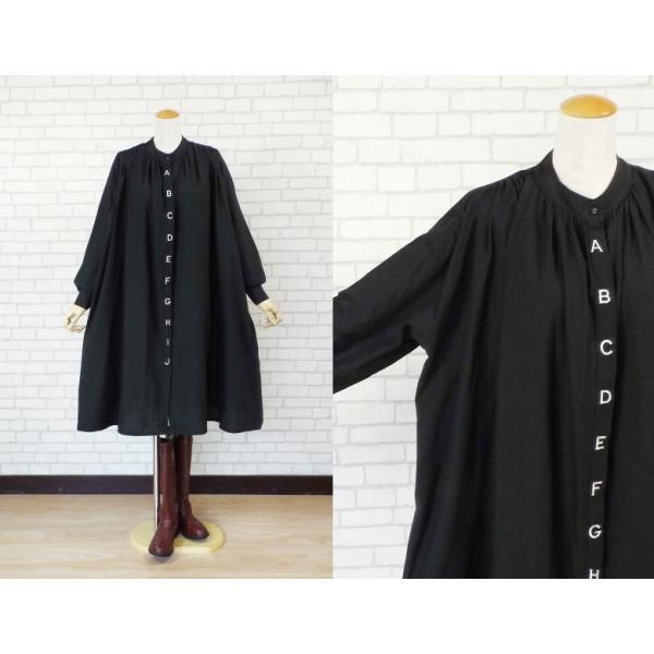 ワンピース アルファベット 刺繍 バルーン シャツ 40代 50代 s2201|visage-souriant1208|08