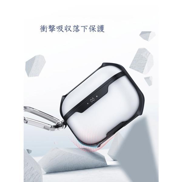 Apple AirPods Pro ケース タフで頑丈 2重構造 半透明 カバー エアーポッズ CASE 耐衝撃 落下防止 アクセサリー 収納 保 visos-store 02