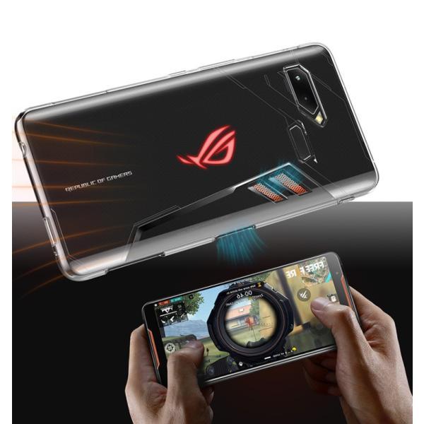 ASUS ROG Phone ZS600KLクリアケース ソフトケース 背面カバー おしゃれ ゼンフォン CASE 耐衝撃 軽量 持ちやすい visos-store 04
