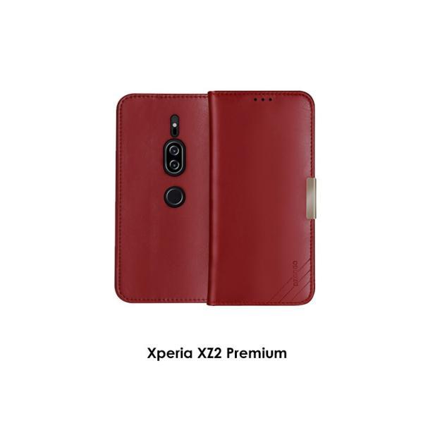 SONY Xperia XZ2 XZ2 Premium 手帳型 レザー おしゃれ ケース エクスぺリアXZ2 / SO-03K|visos-store|09