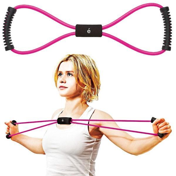 サクライ貿易 レディース erugam トレーニングチューブ 女性用 筋トレの時間だよ スタンダード スポーツ 全身運動 フィットネス エクササイズ 体幹 筋肉 54149