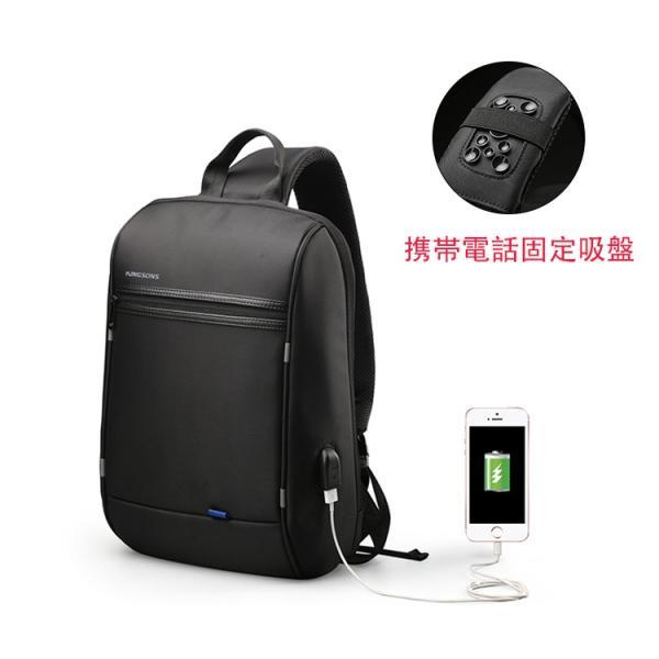 ボディーバッグ ビジネスバッグ ショルダーバッグ メンズ レディース 大容量 多機能 斜め掛け 学生 通学 通勤 旅行 撥水加工 アウトドア 軽量 USB充電ポート|viva-v1|02