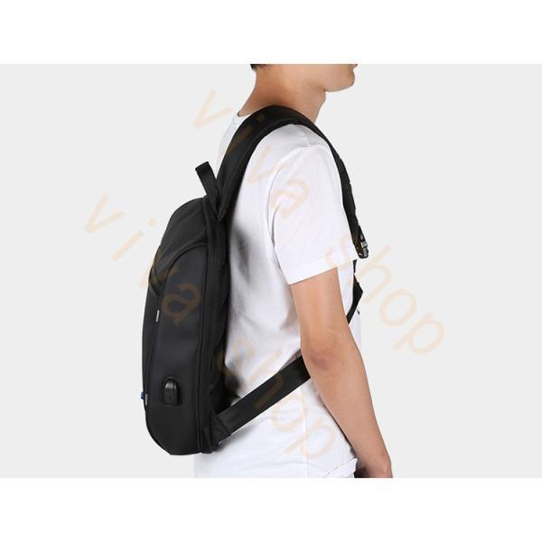 ボディーバッグ ビジネスバッグ ショルダーバッグ メンズ レディース 大容量 多機能 斜め掛け 学生 通学 通勤 旅行 撥水加工 アウトドア 軽量 USB充電ポート|viva-v1|12