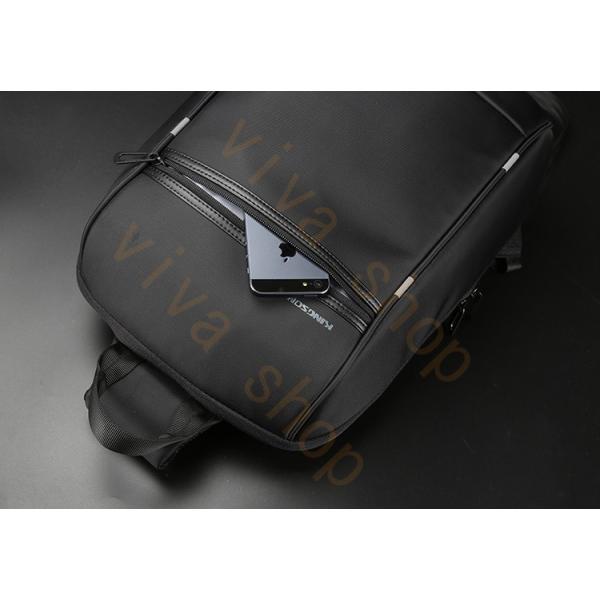 ボディーバッグ ビジネスバッグ ショルダーバッグ メンズ レディース 大容量 多機能 斜め掛け 学生 通学 通勤 旅行 撥水加工 アウトドア 軽量 USB充電ポート|viva-v1|14