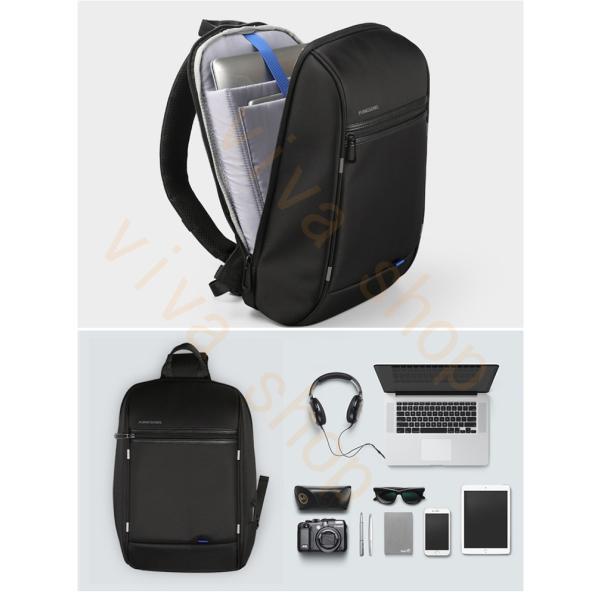 ボディーバッグ ビジネスバッグ ショルダーバッグ メンズ レディース 大容量 多機能 斜め掛け 学生 通学 通勤 旅行 撥水加工 アウトドア 軽量 USB充電ポート|viva-v1|06