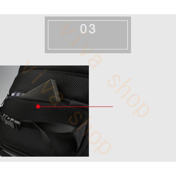 ボディーバッグ ビジネスバッグ ショルダーバッグ メンズ レディース 大容量 多機能 斜め掛け 学生 通学 通勤 旅行 撥水加工 アウトドア 軽量 USB充電ポート|viva-v1|08