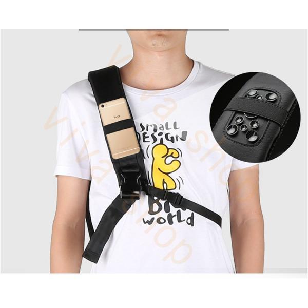 ボディーバッグ ビジネスバッグ ショルダーバッグ メンズ レディース 大容量 多機能 斜め掛け 学生 通学 通勤 旅行 撥水加工 アウトドア 軽量 USB充電ポート|viva-v1|10