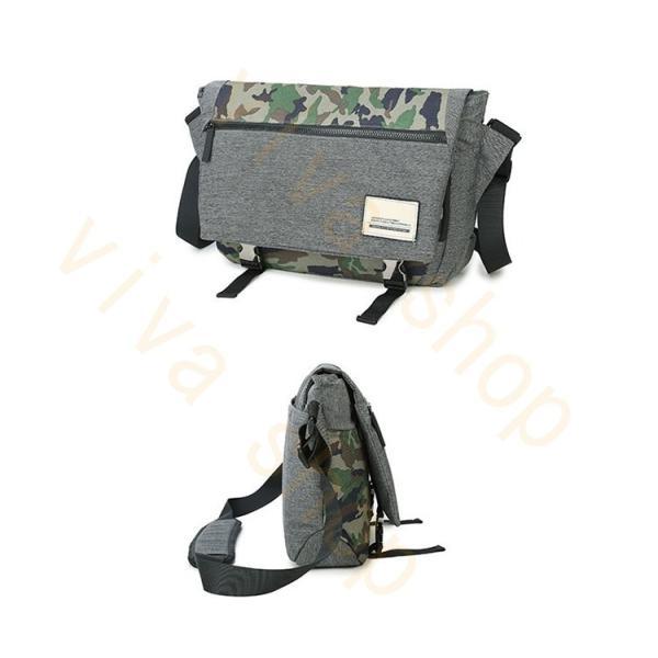 メッセンジャーバッグ メンズ ショルダーバッグ レディース ボディバッグ 斜めがけバッグ 鞄 自転車 通勤 通学 軽量 大容量 アウトドア|viva-v1|03