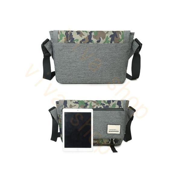 メッセンジャーバッグ メンズ ショルダーバッグ レディース ボディバッグ 斜めがけバッグ 鞄 自転車 通勤 通学 軽量 大容量 アウトドア|viva-v1|04