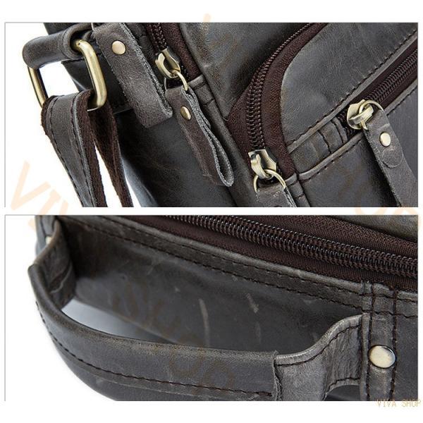 ショルダーバッグ ビジネスバッグ 牛革 鞄 斜めがけ 肩掛け 通勤 通学 大人 高校生 メンズ レディース 軽量  レザー おしゃれ 出張 レトロ 本革|viva-v1|11