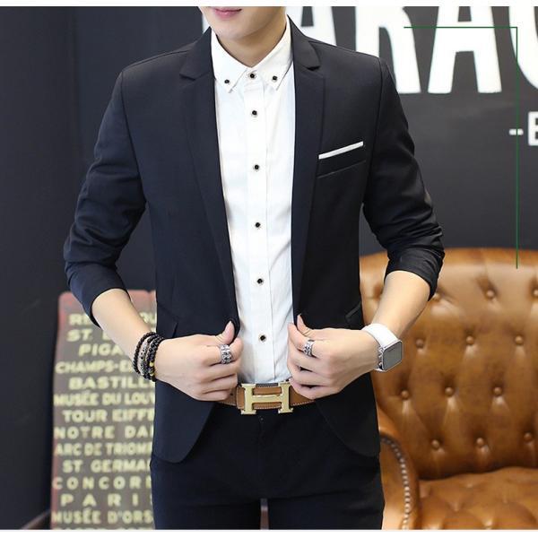 テーラードジャケット メンズ テーラード ジャケット ブレザー スーツ チェック柄 長袖 ビジネス 紳士用 通勤 アウター jacket 細身 春 秋 viva-v1 05