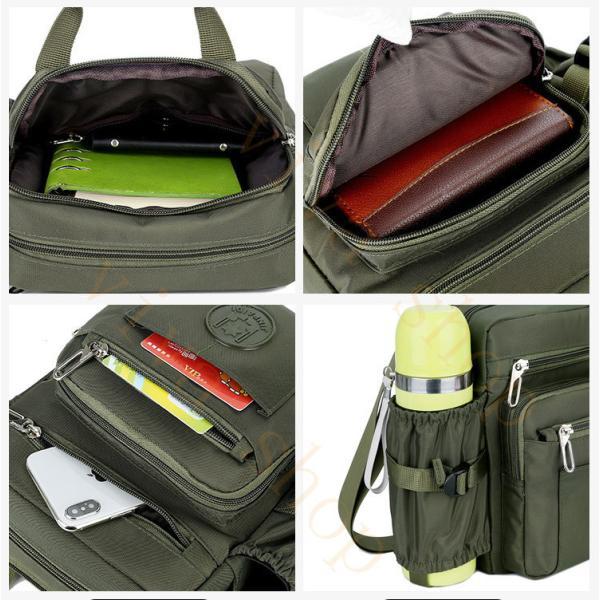 swisswin ショルダーバッグ ビジネスバッグ 大容量 メンズ バッグ レディース 斜めがけバッグ ミニショルダーバッグ 撥水 アウトドア 旅行 通勤 スクールバッグ viva-v1 08