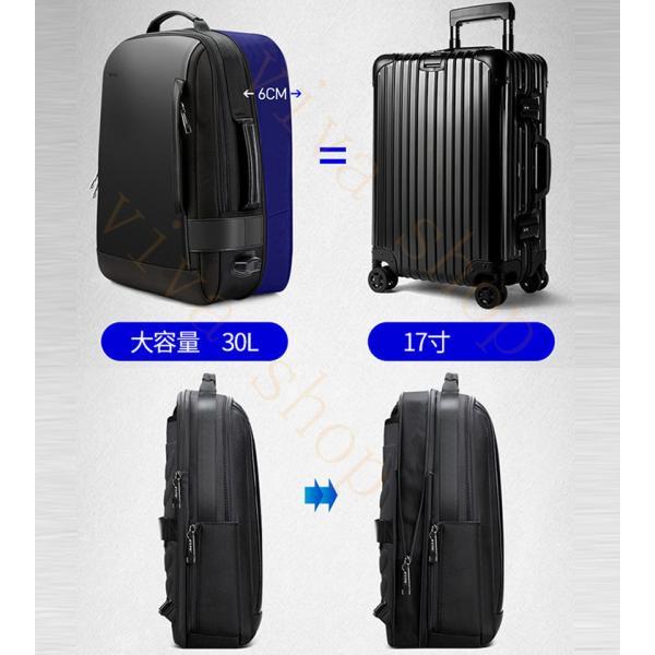 swisswin スーツケース サブバッグ キャリーケース ビジネスキャリー サイレント機内持ち込み 4輪独立 サイズM|viva-v1|05