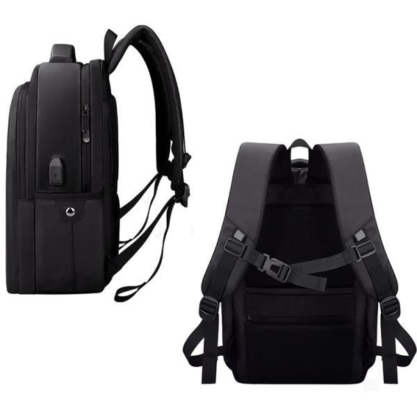 ビジネスバッグ メンズ ビジネスリュック リュック レディース リュックサック バッグ 鞄 大容量 撥水 登山 通学 旅行 収納 通勤用 多機能 軽量 大きめ swisswin|viva-v1|04
