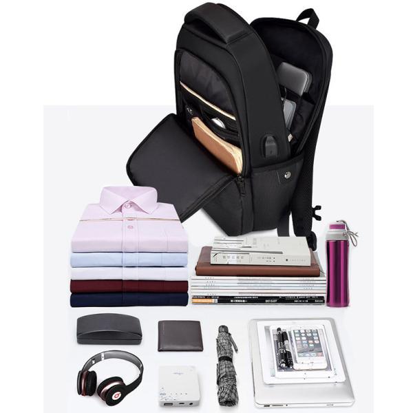 ビジネスバッグ メンズ ビジネスリュック リュック レディース リュックサック バッグ 鞄 大容量 撥水 登山 通学 旅行 収納 通勤用 多機能 軽量 大きめ swisswin|viva-v1|05