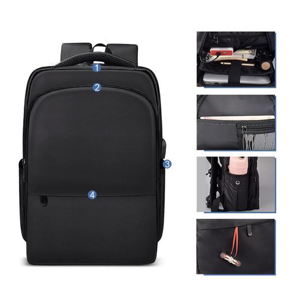 ビジネスバッグ メンズ ビジネスリュック リュック レディース リュックサック バッグ 鞄 大容量 撥水 登山 通学 旅行 収納 通勤用 多機能 軽量 大きめ swisswin|viva-v1|06