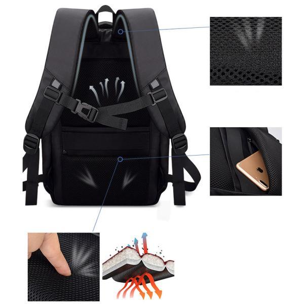 ビジネスバッグ メンズ ビジネスリュック リュック レディース リュックサック バッグ 鞄 大容量 撥水 登山 通学 旅行 収納 通勤用 多機能 軽量 大きめ swisswin|viva-v1|07