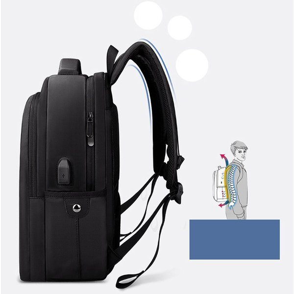 ビジネスバッグ メンズ ビジネスリュック リュック レディース リュックサック バッグ 鞄 大容量 撥水 登山 通学 旅行 収納 通勤用 多機能 軽量 大きめ swisswin|viva-v1|08