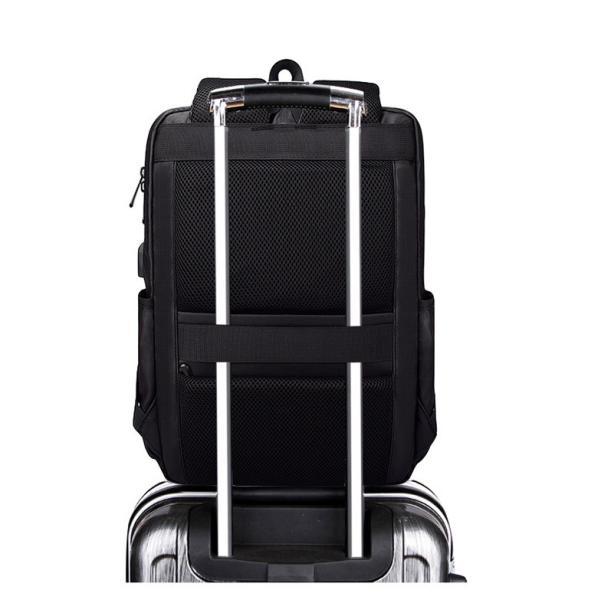 ビジネスバッグ メンズ ビジネスリュック リュック レディース リュックサック バッグ 鞄 大容量 撥水 登山 通学 旅行 収納 通勤用 多機能 軽量 大きめ swisswin|viva-v1|09