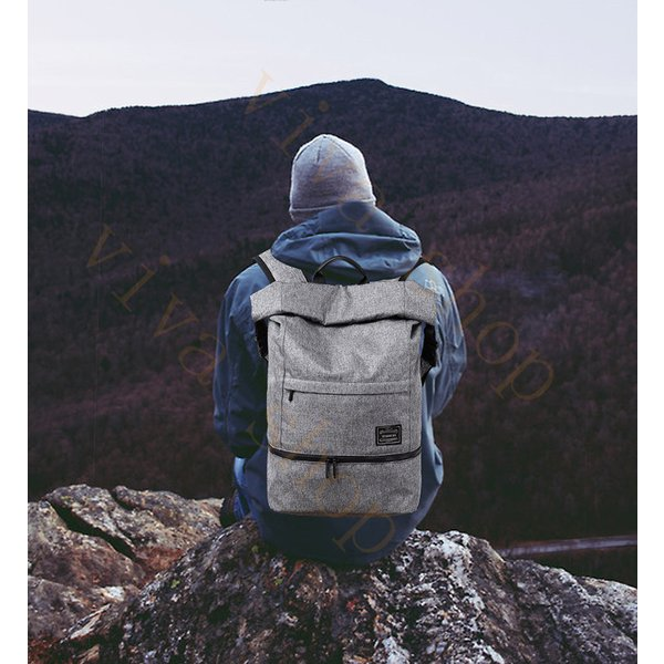 swisswin リュック メンズ リュックサック レディース 口折れリュック カジュアル マザーズバッグ 登山 通学 ノート ビジネス 旅行バッグ 通勤用 出張 swe1010|viva-v1|03