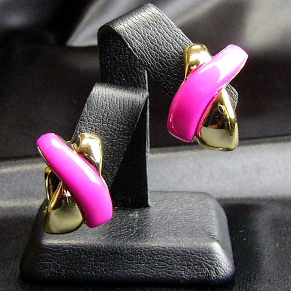 イヤリング ドイツ製 プラスティク  クリップ パロマ ピンク