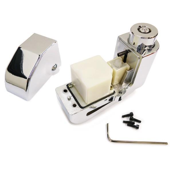 バイク盗難防止 110dBアラーム付 ディスクロック 電池交換可能 取り忘れチェーン付属 ストッピングワイヤー|vivaenterplise|05