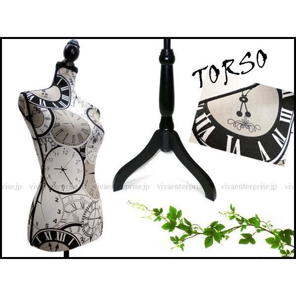 高級 レディース トルソー 9号 猫足マネキン ふしぎの国のアリス 時計柄 G-46 同梱不可 あ|vivaenterplise