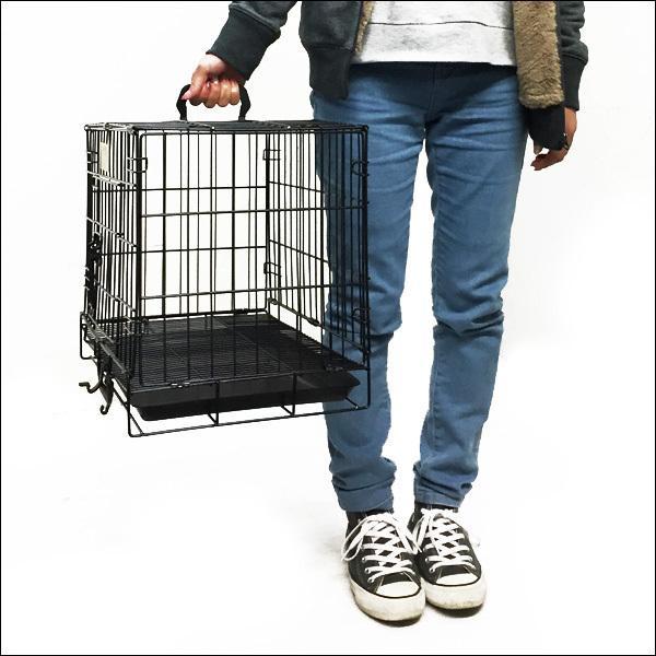 ペットケージ 鉄製 折り畳 ウサギ 猫 犬 ケージS  H38×W46×D30cm オマケ付 あ vivaenterplise 04