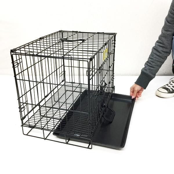 ペットケージ 鉄製 折り畳 ウサギ 猫 犬 ケージS  H38×W46×D30cm オマケ付 あ vivaenterplise 05