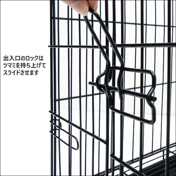 ペットケージ 鉄製 折り畳 ウサギ 猫 犬 ケージS  H38×W46×D30cm オマケ付 あ vivaenterplise 07