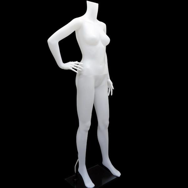 レディースマネキン 女性マネキン 婦人マネキン ナイスボディー 女性用 ホワイト 白1 同梱不可|vivaenterplise|03