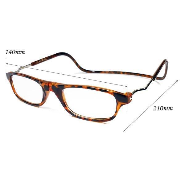 おしゃれ 首かけ老眼鏡 男女兼用 べっ甲 +1.5 +2.0 +2.5|vivaenterplise|05