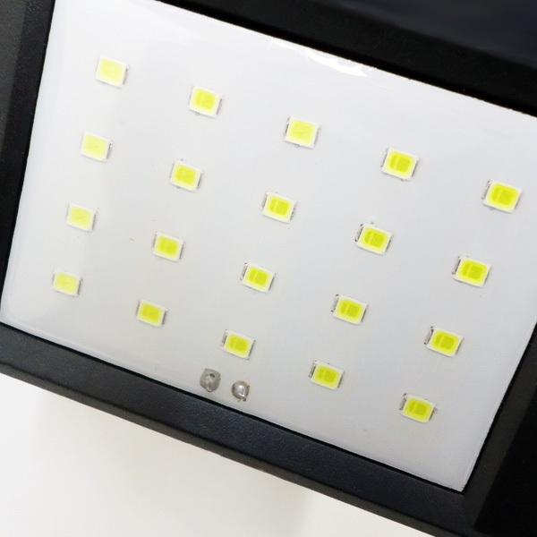屋外センサーライト ソーラーガーデンライト  ソーラー充電式 20LEDライト 人感センサー 自動点灯 防水 電気不要 配線不要|vivaenterplise|06