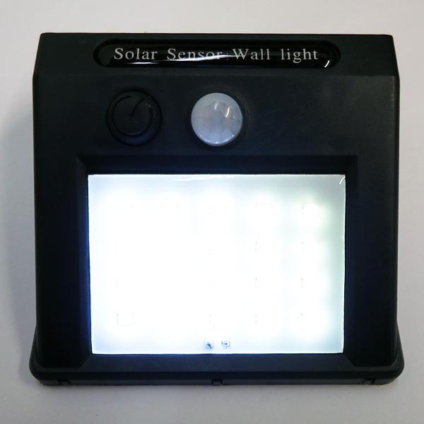 屋外センサーライト ソーラーガーデンライト  ソーラー充電式 20LEDライト 人感センサー 自動点灯 防水 電気不要 配線不要|vivaenterplise|07