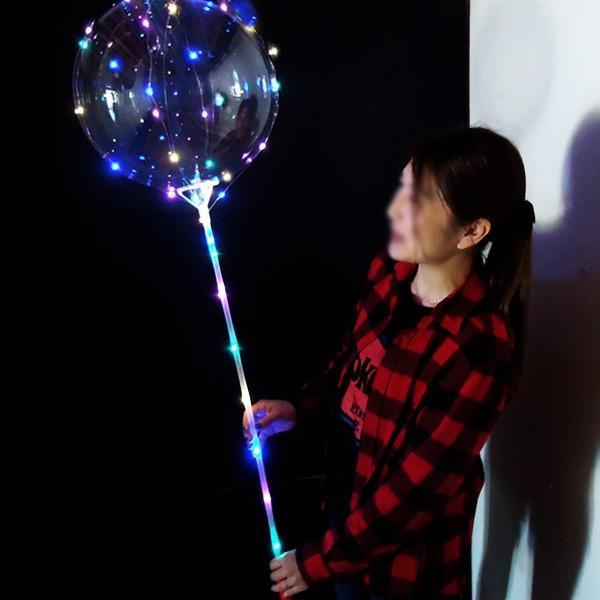 光る風船 竿付 10個セット エアーポンプ付 ミックスLEDバルーン パーティ イベント 夏祭りに大人気|vivaenterplise|02