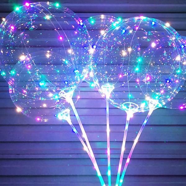 光る風船 竿付 10個セット エアーポンプ付 ミックスLEDバルーン パーティ イベント 夏祭りに大人気|vivaenterplise|11