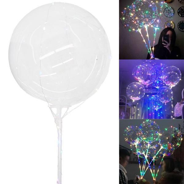光る風船 竿付 10個セット エアーポンプ付 ミックスLEDバルーン パーティ イベント 夏祭りに大人気|vivaenterplise|10