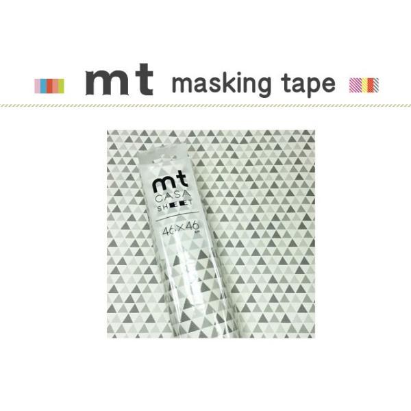 マスキングテープ リメイクシート カモ井加工紙 mt CASA SHEET 壁用 三角パターン 460mm角 3枚パック