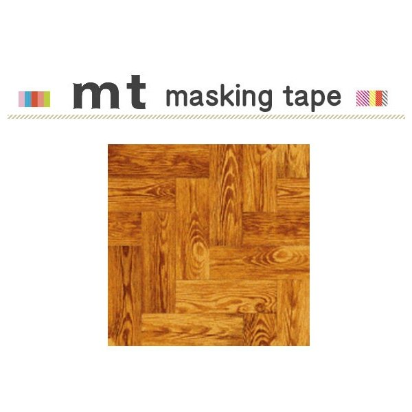 マスキングテープ リメイクシート カモ井加工紙 mt CASA SHEET 床用 茶色い木床 460mm角